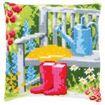 Kit de coussin gros trous - Vervaco - Mon jardin