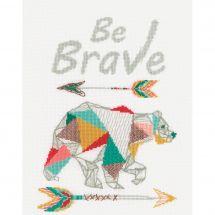 Kit point de croix - Vervaco - Be brave