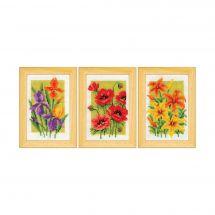 Kit point de croix - Vervaco - Fleurs d'été