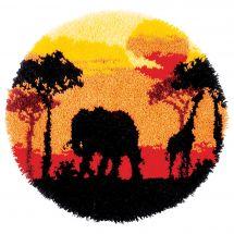 Kit de tapis point noué - Vervaco - Afrique