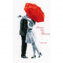 Kit point de croix - Vervaco - Couple qui s'embrasse