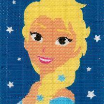 Kit de canevas pour enfant - Vervaco - Elsa