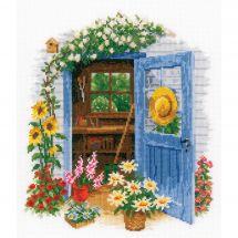Kit point de croix - Vervaco - Ma maison de jardin