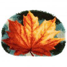Kit de tapis point noué - Vervaco - Feuille d'automne