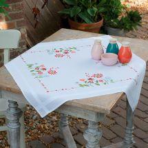 Kit de nappe à broder - Vervaco - Fleurs