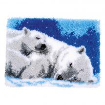 Kit de tapis point noué - Vervaco - Ours polaire