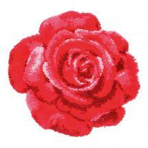 Kit de tapis point noué - Vervaco - Rose rouge