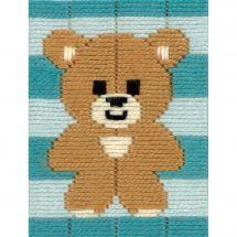 Kit de canevas pour enfant - Vervaco - Petit ours
