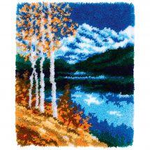 Kit de tapis point noué - Vervaco - Paysage d'automne
