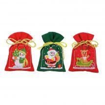 Kit de sachet senteur à broder - Vervaco - Personnages Noël