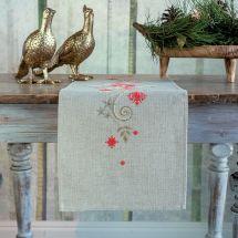 Kit de chemin de table à broder - Vervaco - Noël