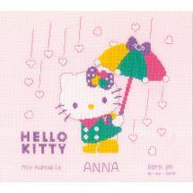 Kit point de croix - Vervaco - Hello Kitty pastel