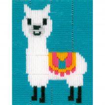Kit de canevas pour enfant - Vervaco - Lama