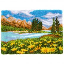 Kit de tapis point noué - Vervaco - Paysage de montagne et lac