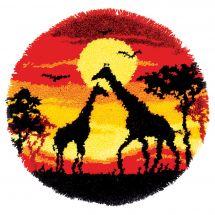 Kit de tapis point noué - Vervaco - Girafes