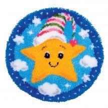 Kit de tapis point noué - Vervaco - Petite étoile