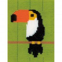 Kit de canevas pour enfant - Vervaco - Toucan