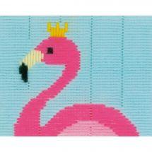 Kit de canevas pour enfant - Vervaco - Flamant rose