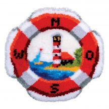 Kit de tapis point noué - Vervaco - Bouée de sauvetage