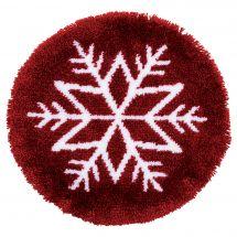 Kit de tapis point noué - Vervaco - Etoile de glace