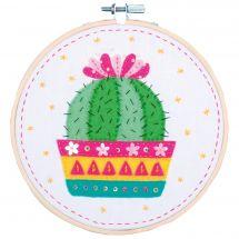 Kit de broderie sur tambour enfant  - Vervaco - Cactus