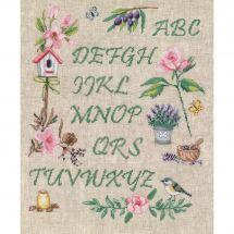 Kit point de croix - Vervaco - Alphabet de jardin