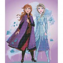 Kit de broderie Diamant - Vervaco - Elsa et Anna