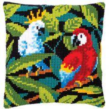 Kit de coussin gros trous - Vervaco - Oiseaux tropicaux