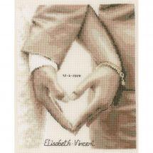 Kit point de croix - Vervaco - Coeur des mariés