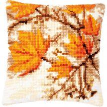Kit de coussin gros trous - Vervaco - Feuilles d'automne