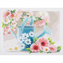 Kit de peinture par numéro - Vervaco - Arrosoir avec fleurs