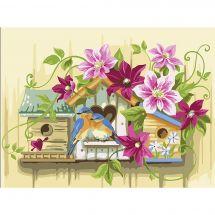 Kit de peinture par numéro - Vervaco - Petits nichoirs
