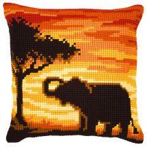 Kit de coussin gros trous - Vervaco - L'éléphant