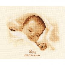 Kit point de croix - Vervaco - Un si beau sommeil