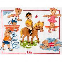 Kit point de croix - Vervaco - Equitation