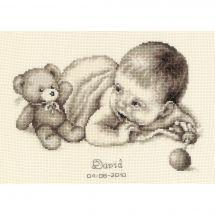 Kit point de croix - Vervaco - David l'ami de bébé