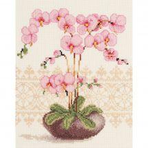 Kit point de croix - Vervaco - Orchidée