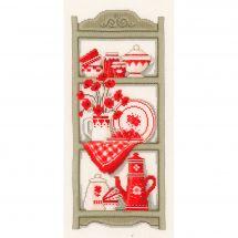 Kit point de croix - Vervaco - Etagère de cuisine rustique