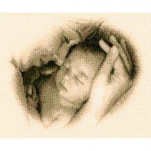 Kit point de croix - Vervaco - Mère et enfant