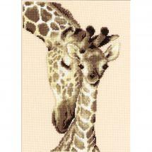 Kit point de croix - Vervaco - Famille de girafes