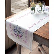 Kit de chemin de table à broder - Vervaco - Bouquet de lavande