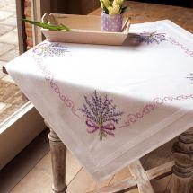 Kit de nappe à broder - Vervaco - Bouquet de lavande