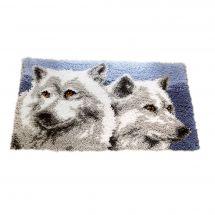 Kit de tapis point noué - Vervaco - Têtes de loups