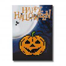 Carte broderie Diamant - Wizardi - Happy halloween