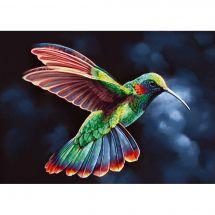 Kit de broderie Diamant - Wizardi - Oiseau tropical