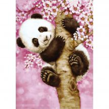 Kit de broderie Diamant - Wizardi - Doux panda