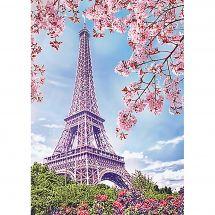 Kit de broderie Diamant - Wizardi - Paris au printemps