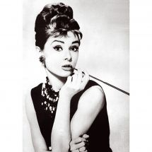 Kit de broderie Diamant - Wizardi - Audrey Hepburn