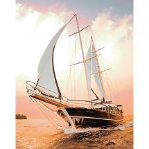 Kit de broderie Diamant - Wizardi - Yacht