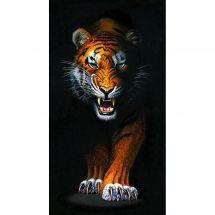 Kit de broderie Diamant - Wizardi - Traquer le tigre
